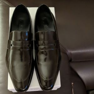 Versace Collection Brown Leather Loafers